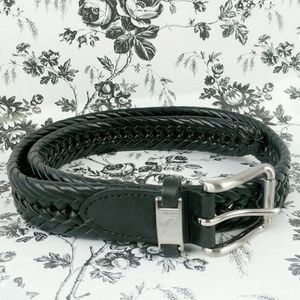 Naitica men's black braided leather belt
